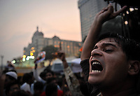 An Indian man participates in a rally against the governments response to the terrorists attacks on Indias financial capital. 3rd of December 2008, Mumbai, India.