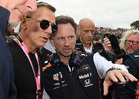 Daniel Crag and Christian HORNER (GBR) (ASTON MARTIN RED BULL RACING) Team principal during the Formula 1 Rolex British Grand Prix 2019 at Silverstone Circuit, Towcester, England on 14 July 2019. Photo by Vince  Mignott.