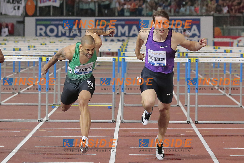 Darien Garfield Francia 110mH Men  <br /> Roma 04-06-2015 Stadio Olimpico<br /> IAAF Diamond League 2015 Rome<br /> Golden Gala Meeting - Track And Field Athletics Meeting<br /> Foto Cesare Purini / Insidefoto
