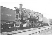3/4 front fireman side view of K-36 #486 parked.<br /> D&amp;RGW