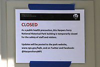 HARPERS FERRY, WV - MAY 13: The town of Harpers Ferry is reeling after most of its stores and surrounding attractions are still closed even with Governor Jim Justice allowing the state to reopen most places in surrounding areas. Many of its businesses are in jeopardy of going out of business during the coronavirus pandemic on May 13, 2020 in Harpers Ferry, West Virginia. <br /> CAP/MPI34<br /> ©MPI34/Capital Pictures