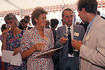 WINE IN ENGLAND, SOMERSET, ENGLISH VINEYARD ASSOCIATION ANNUAL WINE TASTING ON THE TERRACE OF THE HOUSE OF LORDS, LONDON, 1989