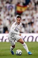 23rd November 2019; Estadio Santiago Bernabeu, Madrid, Spain; La Liga Football, Real Madrid versus Real Sociedad; Eden Hazard (Real Madrid)  breaks forward on the ball - Editorial Use