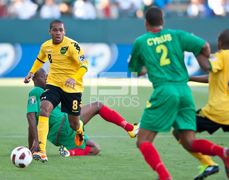 CARSON, CA – June 6, 2011: Jamaican Eric Vernan (8) during the match between Grenada and Jamaica at the Home Depot Center in Carson, California. Final score Jamaica 4 and Grenada 0.