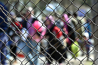 Pictured: The fence of the refugee camp Tuesday 23 February 2016<br /> Re: Migrants at a refugee camp in the Schisto area of Athens, Greece.