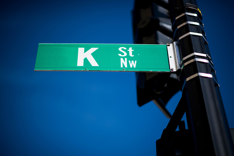 UNITED STATES - OCTOBER 20: K Street sign at 15th and K Streets in Washington, DC. (Photo By Bill Clark/CQ Roll Call)