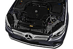 Car Stock 2016 Mercedes Benz GLC Launch Edition 5 Door Suv Engine  high angle detail view