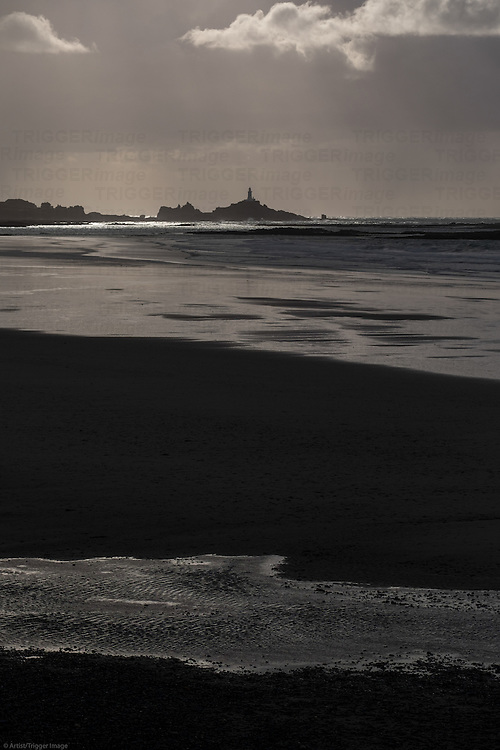 Lighthouse on distant headland