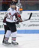 Julia Marty (NU - 16) - The Northeastern University Huskies defeated the Union College Dutchwomen 4-1 on Saturday, October 3, 2009, at Matthews Arena in Boston, Massachusetts.