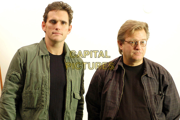 "MATT DILLON & BRENT HAMER.Photocall for ""Factotum"" at cinema 4 fontane, Rome, Italy..March 27th, 2006.Ref: CAV.half length green black plaid jacket.www.capitalpictures.com.sales@capitalpictures.com.© Capital Pictures."
