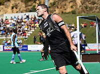 NZ captain Phillip Burrows shows his frustration after having a shot blocked during the international hockey match between the New Zealand Black Sticks and India at National Hockey Stadium, Wellington, New Zealand on Saturday, 20 February 2009. Photo: Dave Lintott / lintottphoto.co.nz