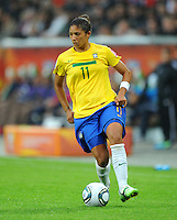 Cristiane of team Brazil during the FIFA Women's World Cup at the FIFA Stadium in Wolfsburg, Germany on July 3rd, 2011.