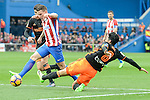 Atletico de Madrid's Kevin Gameiro and Valencia CF's Enzo Perez during La Liga match between Atletico de Madrid and Valencia CF at Vicente Calderon Stadium  in Madrid, Spain. March 05, 2017. (ALTERPHOTOS/BorjaB.Hojas)