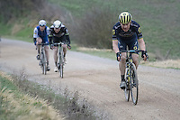 great race by Chris Juul Jensen (DEN/Orica-Scott)<br /> <br /> 11th Strade Bianche 2017