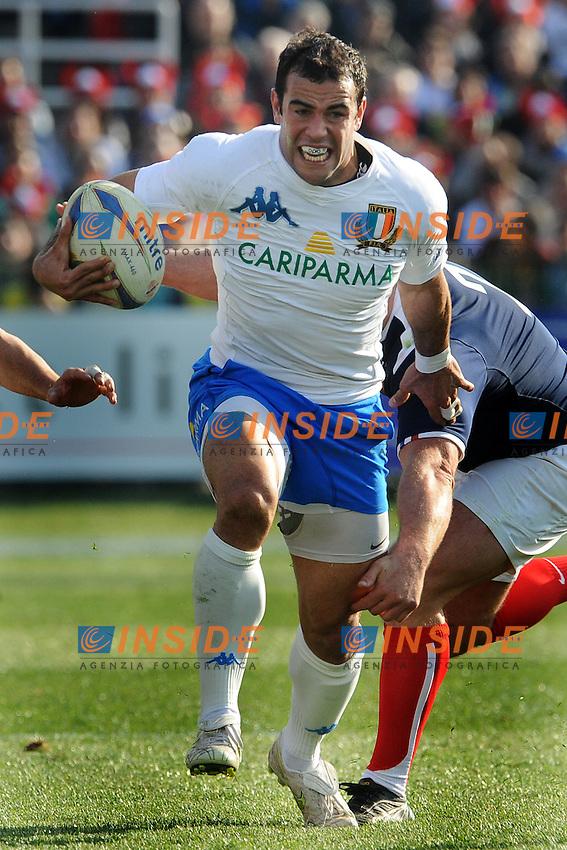 Gonzalo Canale (Italia)<br /> Italia vs Francia  22-21<br /> RBS 6 Nations Rugby Championship 2011<br /> Stadio Flaminio;<br /> Roma, 12/03/2011<br /> Photo Antonietta Baldassarre Insidefoto
