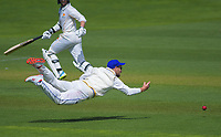 Otago's Neil Broom attempts a run out during day two of the Plunket Shield cricket match between the Wellington Firebirds and Otago Volts at the Basin Reserve in Wellington, New Zealand on Tuesday, 22 October 2019. Photo: Dave Lintott / lintottphoto.co.nz