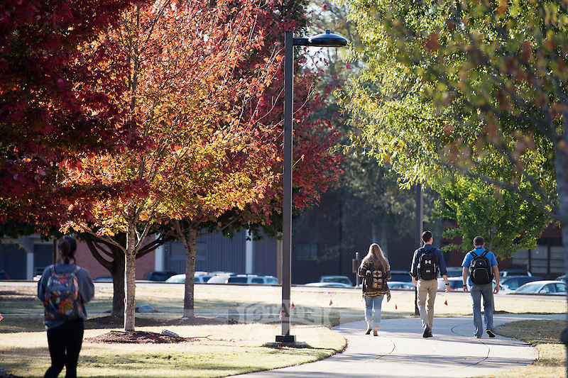 Students walking to class, Drill Field.<br />  (photo by Megan Bean / &copy; Mississippi State University)