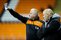 Blackpool's interim manager Terry McPhillips watches on<br /> <br /> Photographer Alex Dodd/CameraSport<br /> <br /> The EFL Checkatrade Trophy Northern Group C - Blackpool v West Bromwich Albion U21 - Tuesday 9th October 2018 - Bloomfield Road - Blackpool<br />  <br /> World Copyright &copy; 2018 CameraSport. All rights reserved. 43 Linden Ave. Countesthorpe. Leicester. England. LE8 5PG - Tel: +44 (0) 116 277 4147 - admin@camerasport.com - www.camerasport.com