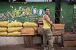 Havana, Cuba: Market vendors at the Egido Marketplace