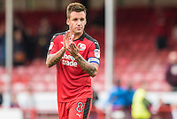 Jimmy Smith of Crawley Town (8) celebrates the win  during the Sky Bet League 2 match between Crawley Town and Luton Town at the Broadfield/Checkatrade.com Stadium, Crawley, England on 17 September 2016. Photo by Edward Thomas / PRiME Media Images.