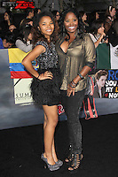 LOS ANGELES, CA - NOVEMBER 12: Cassie Jackson and Shar Jackson at the premiere of Summit Entertainment's 'The Twilight Saga: Breaking Dawn - Part 2' at the Nokia Theatre L.A. Live on November 12, 2012 in Los Angeles, California. Credit: mpi29/MediaPunch Inc. /NortePhoto