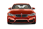 Car photography straight front view of a 2015 BMW M3 4 Door Sedan Front View