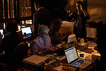 Images taken behind the scenes of the 2012 New Hampshire Primary live coverage by Dan Rather Reports and his Dan Rather Reports program on cable channel HDNET
