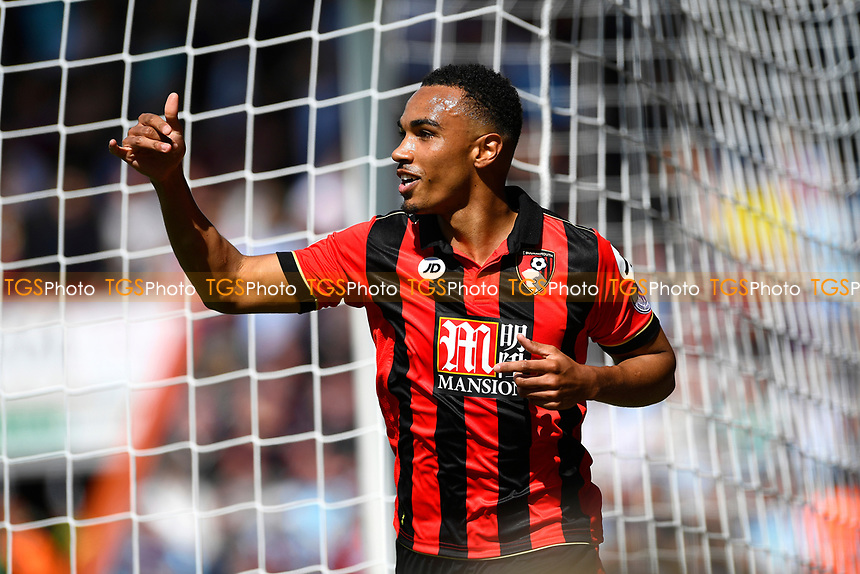 Junior Stanislas of AFC Bournemouth celebrates after scoring the first goalJunior Stanislas of AFC Bournemouth celebrates his goal during AFC Bournemouth vs Burnley, Premier League Football at the Vitality Stadium on 13th May 2017