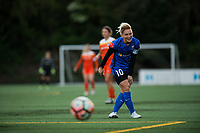 Seattle, WA - Saturday April 22, 2017: Jess Fishlock during a regular season National Women's Soccer League (NWSL) match between the Seattle Reign FC and the Houston Dash at Memorial Stadium.