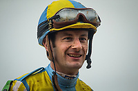 LEXINGTON, KY - OCTOBER 08: Julien Leparoux after the Dixiana Bourbon Stakes at Keeneland Race Course on October 08, 2017 in Lexington, Kentucky. (Photo by Alex Evers/Eclipse Sportswire/Getty Images)