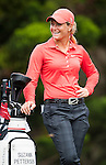 TAOYUAN, TAIWAN - OCTOBER 28:  Suzann Pettersen of Norway stands next to her bag on the 2nd hole during the day four of the Sunrise LPGA Taiwan Championship at the Sunrise Golf Course on October 28, 2012 in Taoyuan, Taiwan.  Photo by Victor Fraile / The Power of Sport Images