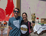 Spencer and Alex during the Mural Marathon on Saturday June 30, 2018 in downtown Reno.