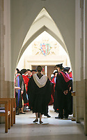 Dignitaries prepare for the Graduation Ceremony, University of Surrey.