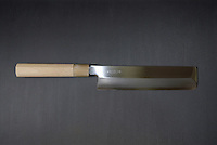 "21cm ""usuba"" for chopping vegetables. \23,000. Hand-made."
