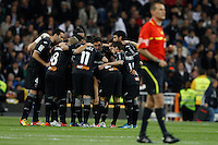 08.04.2012 SPAIN -  La Liga matchday 32th  match played between Real Madrid CF vs Valencia (0-0) and falls to 4 points behind Barcelona, at Santiago Bernabeu stadium. The picture show Valencia C.F.