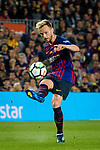 Ivan Rakitic of FC Barcelona looks to bring the ball down during the La Liga match between Barcelona and Real Sociedad at Camp Nou on May 20, 2018 in Barcelona, Spain. Photo by Vicens Gimenez / Power Sport Images