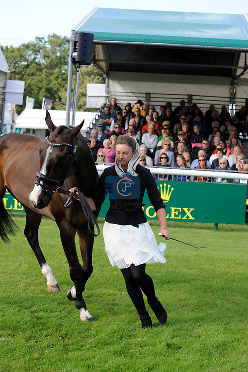 Stamford, Lincolnshire, United Kingdom, 4th September 2019, Samantha Lissington (NZL) & Ricker Ridge Rui during the 1st Horse Inspection of the 2019 Land Rover Burghley Horse Trials, Credit: Jonathan Clarke/JPC Images
