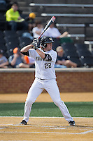 Will Craig (22) of the Wake Forest Demon Deacons at bat against the Miami Hurricanes at Wake Forest Baseball Park on March 21, 2015 in Winston-Salem, North Carolina.  The Hurricanes defeated the Demon Deacons 12-7.  (Brian Westerholt/Four Seam Images)