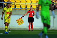 Assistant referee Sarah Jones during the A-League football match between Wellington Phoenix and Brisbane Roar at Westpac Stadium in Wellington, New Zealand on Saturday, 23 November 2019. Photo: Dave Lintott / lintottphoto.co.nz