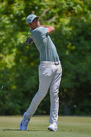 Tony Finau (USA) watches his tee shot on 2 during Round 4 of the Zurich Classic of New Orl, TPC Louisiana, Avondale, Louisiana, USA. 4/29/2018.<br /> Picture: Golffile | Ken Murray<br /> <br /> <br /> All photo usage must carry mandatory copyright credit (&copy; Golffile | Ken Murray)