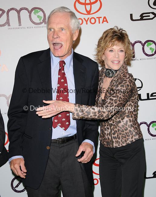 Ted Turner and Jane Fonda at The 2010 Environmental Media Association Awards held at WB Studios in Burbank, California on October 16,2010                                                                   Copyright 2010  © Hollywood Press Agency