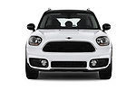 Car photography straight front view of a 2017 MINI Countryman 5-Door 5 Door Hatchback Front View