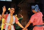 Dancers perform traditional dances in Bangkok, Thailand. (Jim Bryant Photo)...