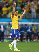 Thiago Silva of Brazil celebrates at full time