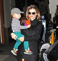 Miranda Kerr strolls her son Flynn - New York City