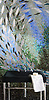 Ellen's Fish Jewel glass mosaic by Ellen McCaleb for New Ravenna Mosaics.<br /> <br /> Sink courtesy of Stone Forest.