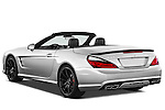Rear three quarter view of a 2013 Mercedes-Benz SL-Class SL63 AMG Convertible