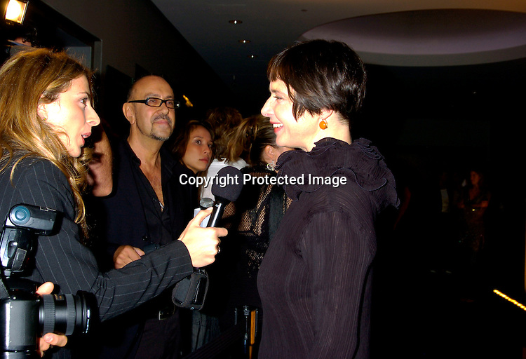 Isabella Rossellini ..at Coty's 100th Anniversary Celebration  on September 12, 2004 at the  American Museum of Natural Historys Rose Center for Earth and Space ..Photo by Robin Platzer, Twin Images