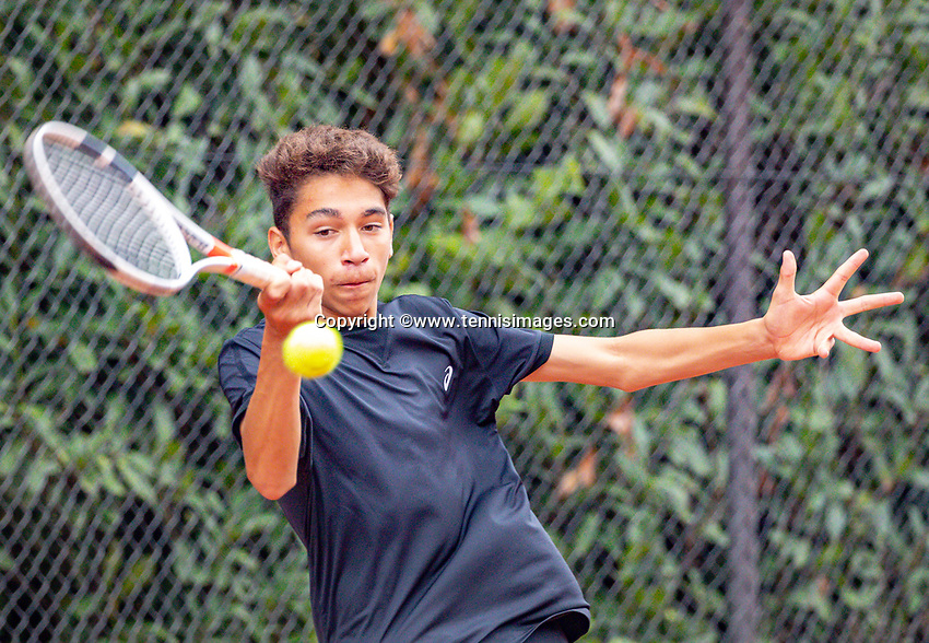 Hilversum, Netherlands, August 8, 2018, National Junior Championships, NJK, Zacharias Alpassa (NED)<br /> Photo: Tennisimages/Henk Koster