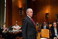 Attorney General Jeff Sessions arrives prior to testifying during a Senate Appropriations sub committee hearing to examine the Department of Justice budget at the United States Capitol in Washington, DC on April 25, 2018. Credit: Alex Edelman / CNP /MediaPunch